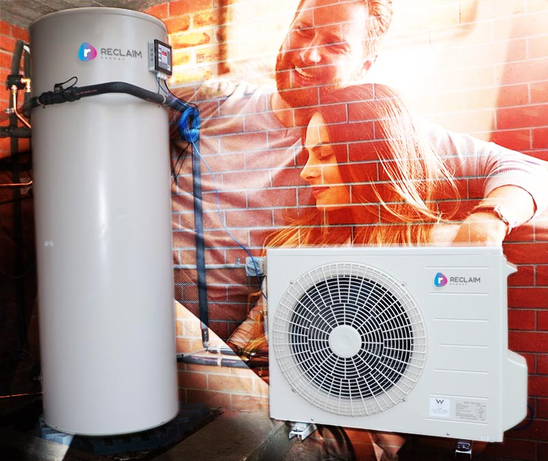 Reclaim C02 hot water heat pump