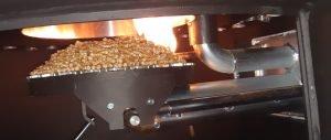 pellet boiler after it has been lit