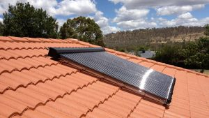 Solar Hot Water System Installed on a roof